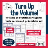 Turn Up the Volume - volume of irregular prisms task cards