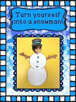 Turn Yourself Into a Snowman Cut and Paste Craft