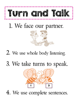 Turn and Talk Anchor Chart