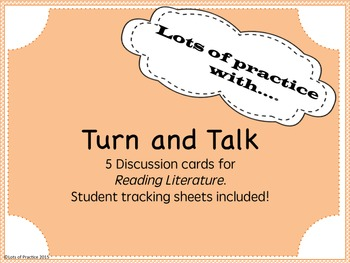 Turn and Talk Cards