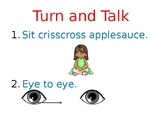 Turn and Talk Chart