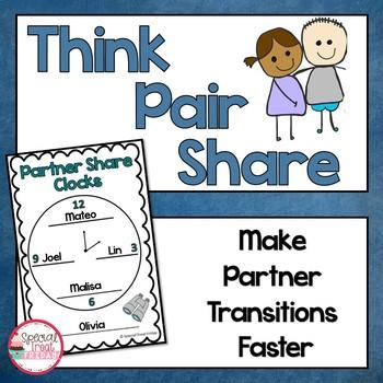 Think Pair Share Partner Clocks Free