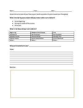 Turn and Talk Forms For Art
