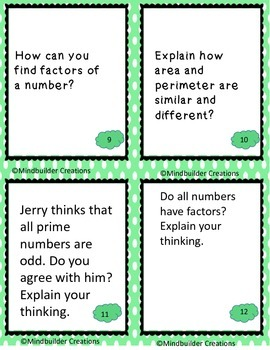 Turn and Talk Multiplication and Division Discussion Prompts