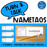 Turn and Talk Name Tags