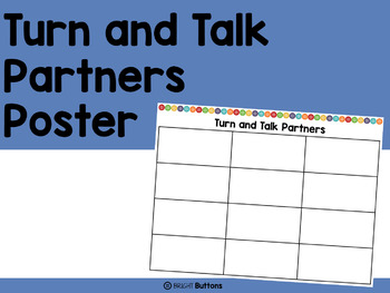 Turn and Talk Partners poster - buttons theme