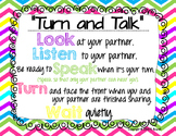 Turn and Talk Poster (Student Tips for Turn and Talk Activities)