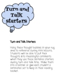 Turn and Talk Starters
