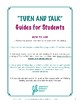 Turn and Talk Student Guides