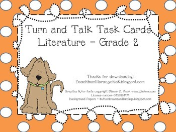 Turn and Talk Task Cards - Grade 2