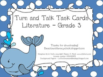 Turn and Talk Task Cards - Grade 3