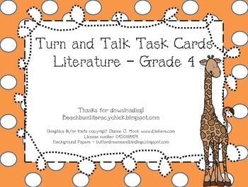 Turn and Talk Task Cards - Grade 4