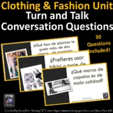 La Ropa Spanish Clothing Conversation, Speaking practice- Turn and Talk.