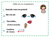 Turn and talk poster in Spanish