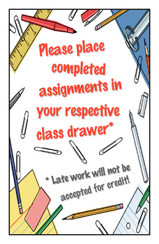 Turn in Assignments Poster