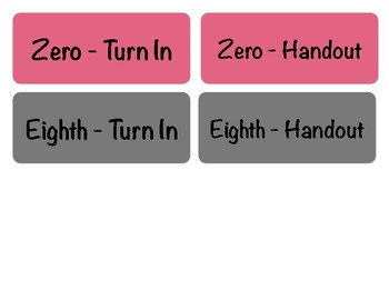 Turn-in Bin Labels, Sixth Period Prep