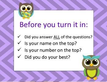 Turn it In checklist