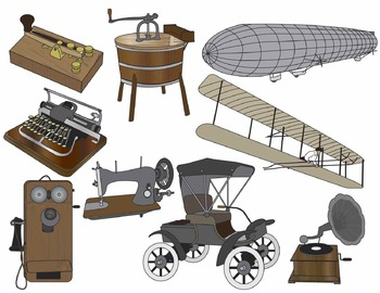 Turn of the Century Artifacts Clip Art (COLOR ONLY)
