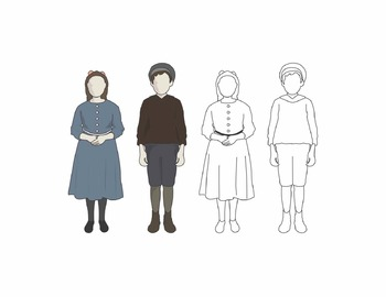 Turn of the Century Boy and Girl Clip Art (FREE)