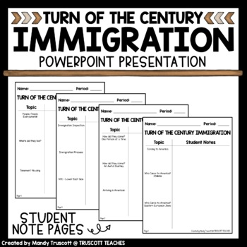 Turn of the Century Immigration PowerPoint