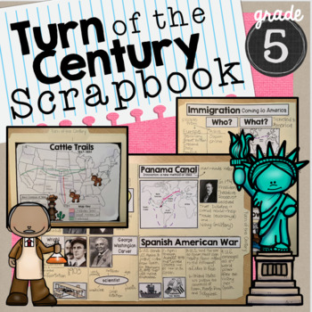 Turn of the Century Interactive Scrapbook SS5H1