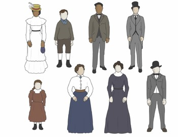 Turn of the Century People Clip Art (COLOR ONLY)