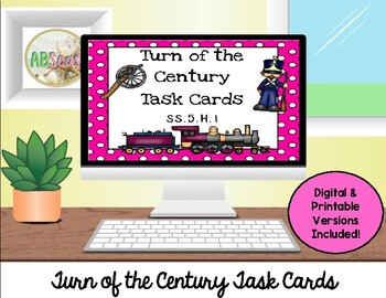 Turn of the Century Task Cards