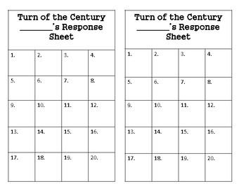 Turn of the Century Task Cards  (GMAS:  SS5H1)