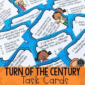 Turn of the Century Task Cards (SS5H1a-d)