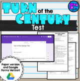 Turn of the Century Unit Test 5th grade SS5H1