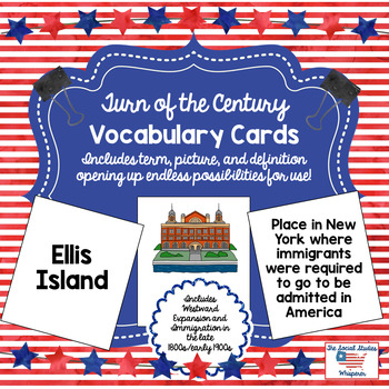 Turn of the Century Vocabulary Cards
