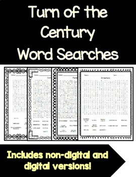 Turn of the Century Word Searches