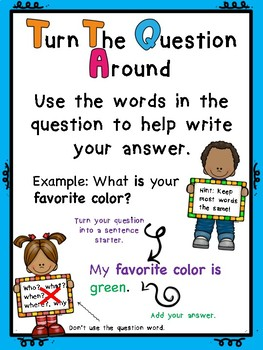 Turn the Question Around Poster Anchor Chart US