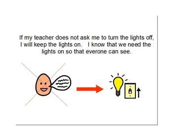 Turning Lights On & Off at School Social Story