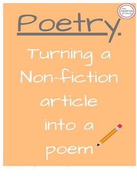Turning Non-Fiction Articles into Poetry - Freshman