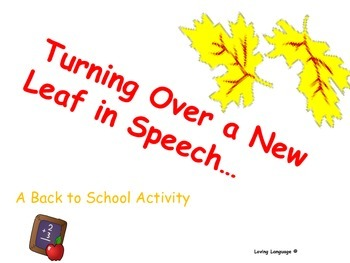 Turning Over a New Leaf in Speech