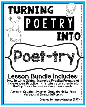 Turning Poetry into Poet-Try: 7 Lesson Poetry BUNDLE