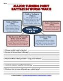 World War II Turning Point Battles Worksheet