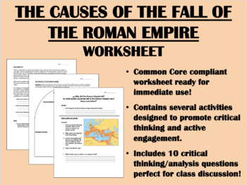 Turning Point - The Fall of Rome worksheet by Epic History ...