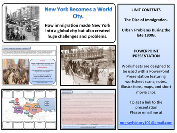 Immigration & Urbanization in the 1900s Unit - American History - Turning Points