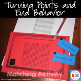 Turning Points and End Behavior Task Cards - Matching Activity
