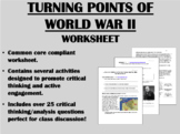 Turning Points of World War II - Global/World/US History Common Core