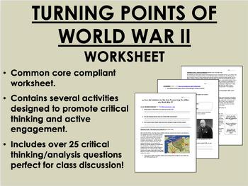 Turning Points of World War II - Global/World/US History C