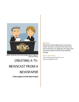 Turning a Newspaper Into a TV Newscast
