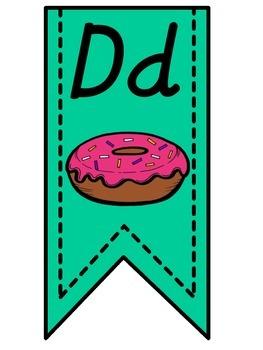 Turquoise Alphabet Banner