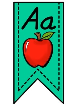 Turquoise Alphabet Banner