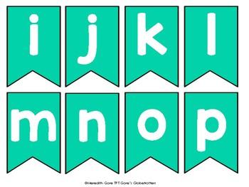 Turquoise Alphabet Bunting