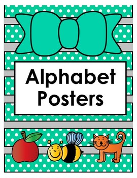 Turquoise Alphabet Posters