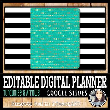 Turquoise & Arrows Digital Planner ( Google Slides)