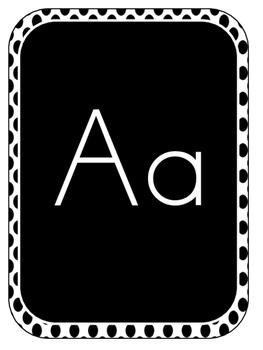 Turquoise, Black, & Grey Print Alphabet!